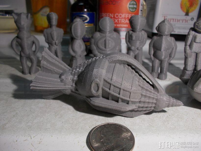 尼莫号潜艇 3D模型  图1