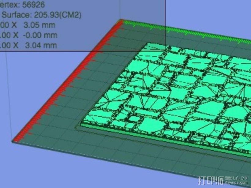 拼接石板 3D模型  图3