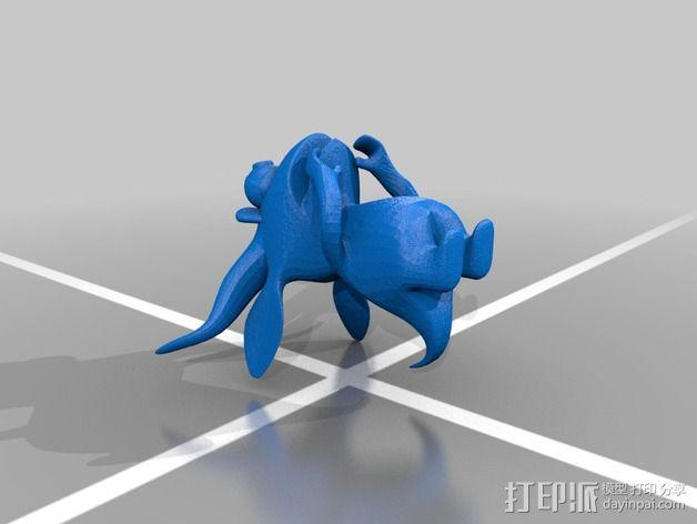 胆小的小怪物 3D模型  图2