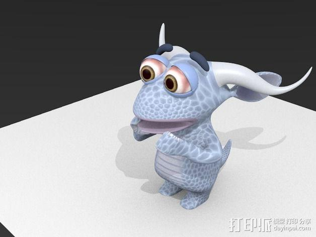 胆小的小怪物 3D模型  图1