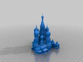 圣巴索大教堂 3D模型