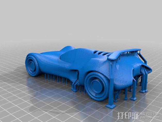 经典款蝙蝠车 3D模型  图2