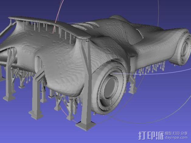经典款蝙蝠车 3D模型  图3
