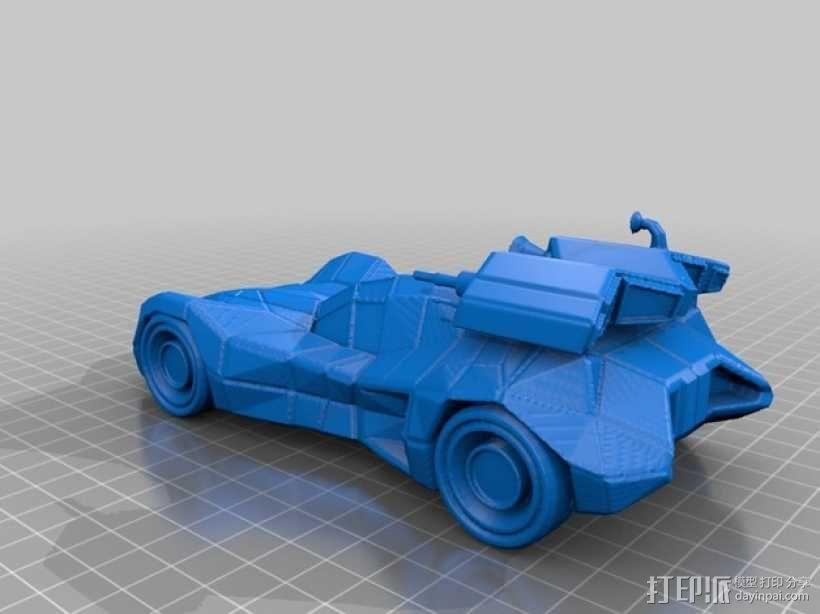 装甲蝙蝠车 3D模型  图2
