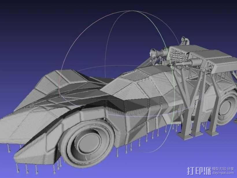 装甲蝙蝠车 3D模型  图4