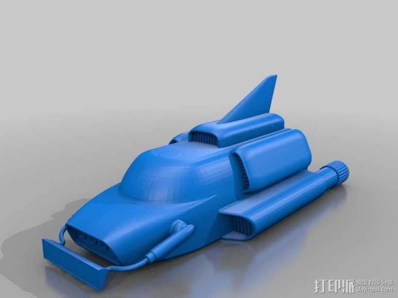雷鸟飞机 3D模型  图1