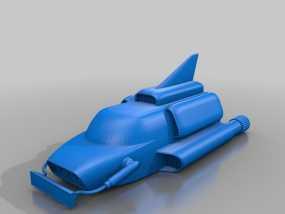 雷鸟飞机 3D模型