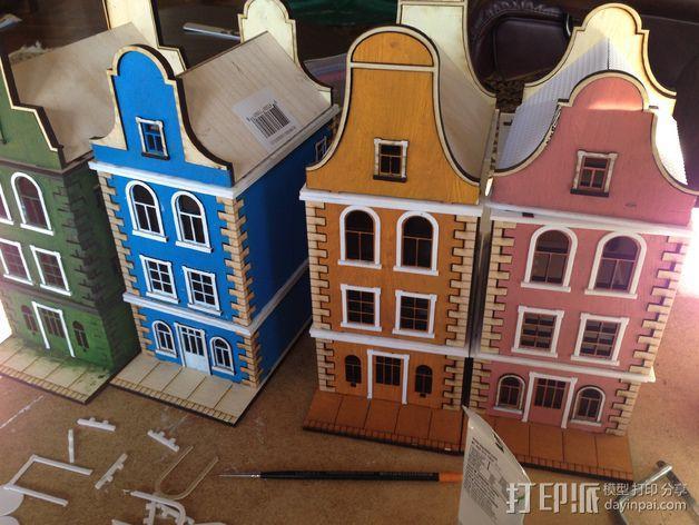 乡间别墅 3D模型  图2