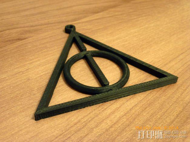 死亡圣器 纺纱环吊坠 3D模型  图3
