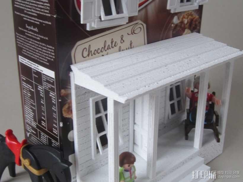 饼干屋 农舍 3D模型  图1