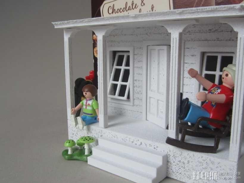 饼干屋 农舍 3D模型  图3