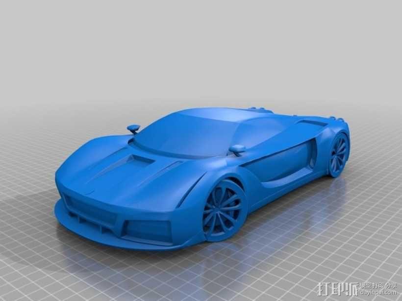 法拉利汽车 3D模型  图1