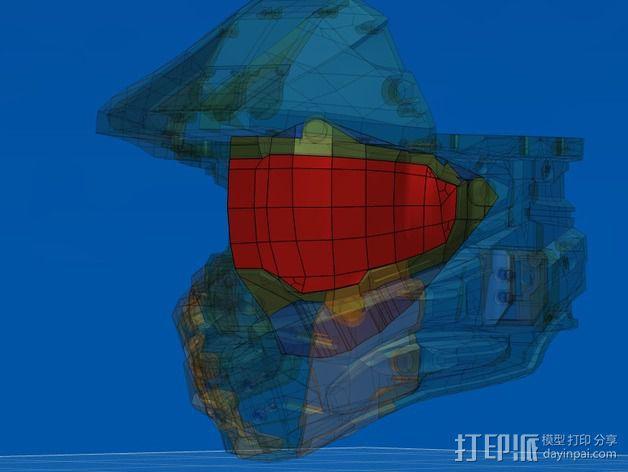 光晕4头盔 3D模型  图4