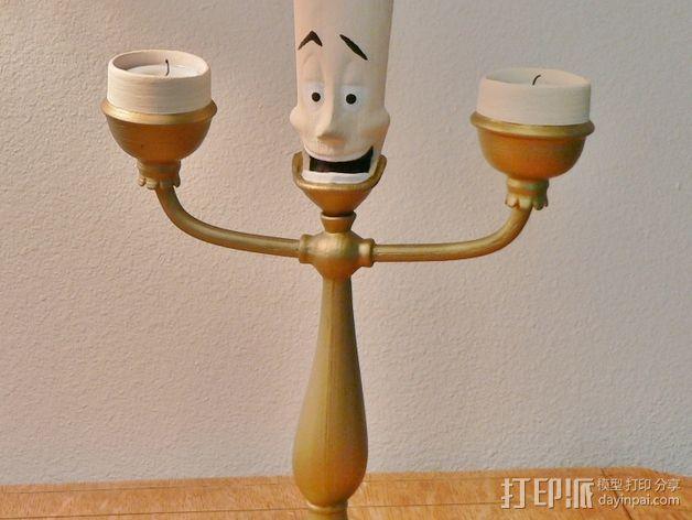 Lumiere蜡烛人 3D模型  图4