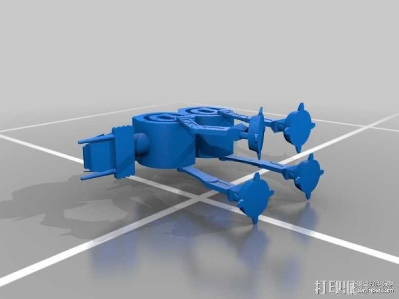AT-AT步行机 3D模型  图2