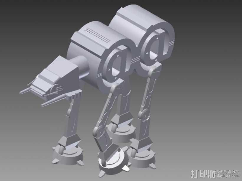 AT-AT步行机 3D模型  图1