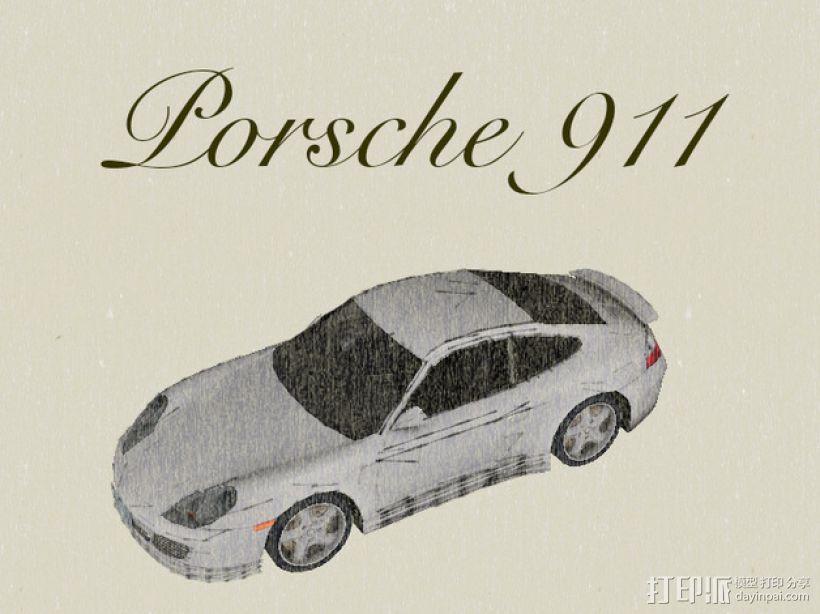 保时捷911汽车 3D模型  图1