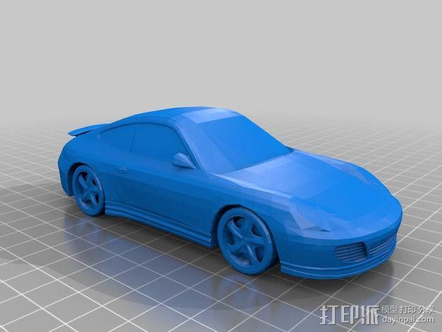 保时捷911汽车 3D模型  图2