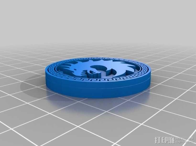 Dragon Army 硬币徽章 3D模型  图1