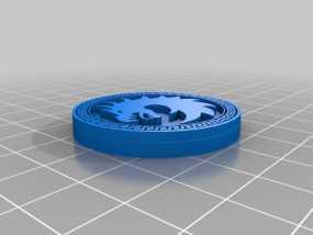 Dragon Army 硬币徽章 3D模型