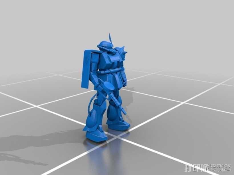 机动战士扎古 3D模型  图1