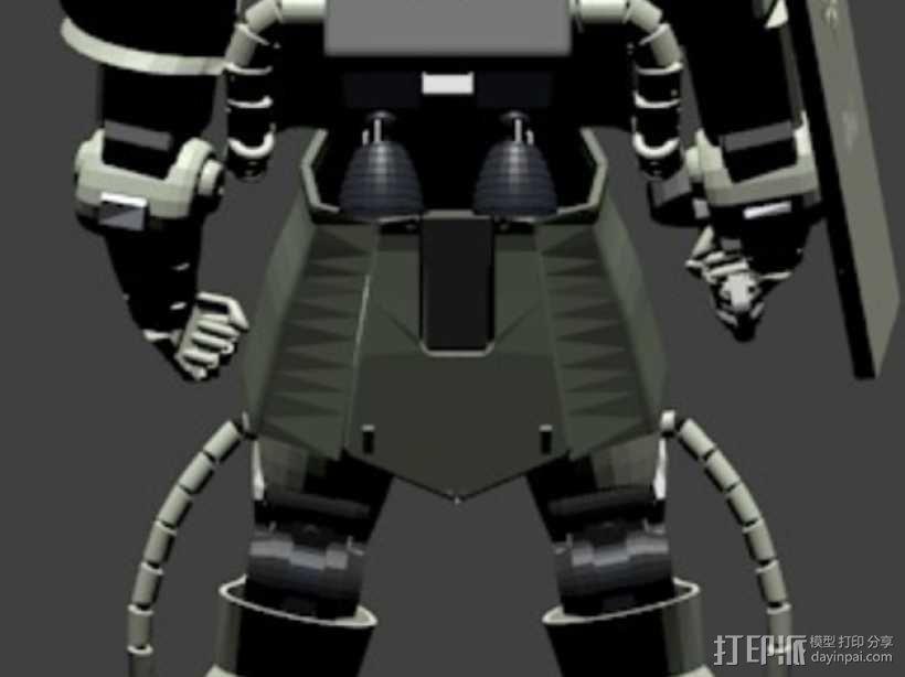 机动战士扎古 3D模型  图3