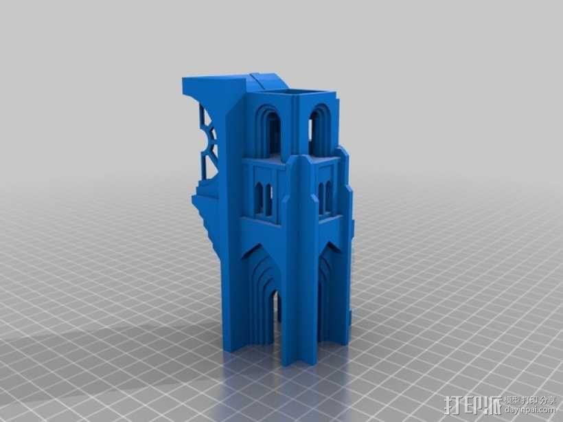 哥特式教堂 3D模型  图2