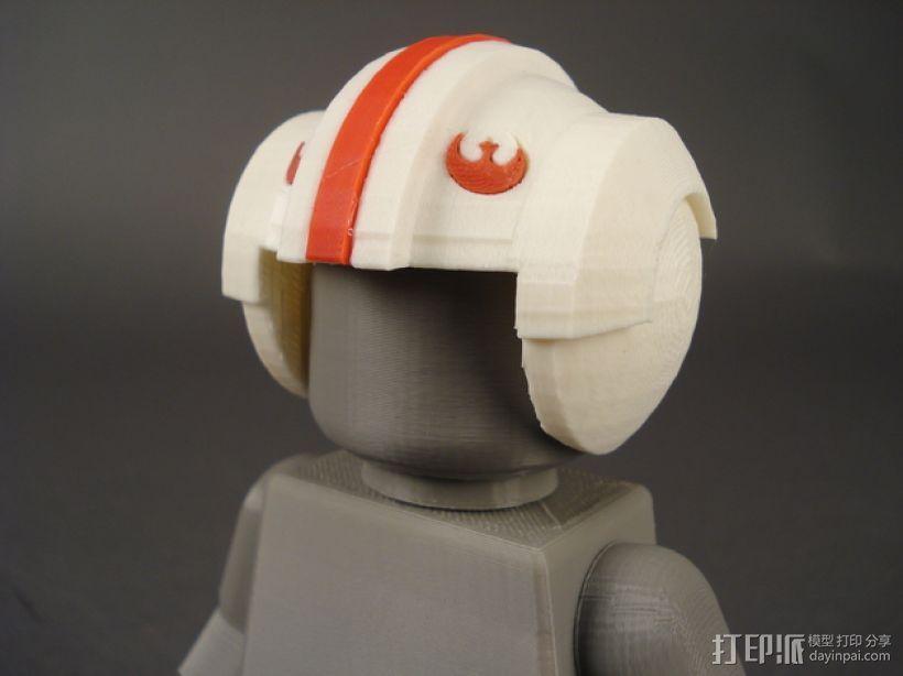叛军飞行员头盔 3D模型  图1