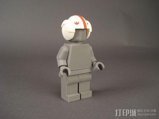 叛军飞行员头盔 3D模型  图2