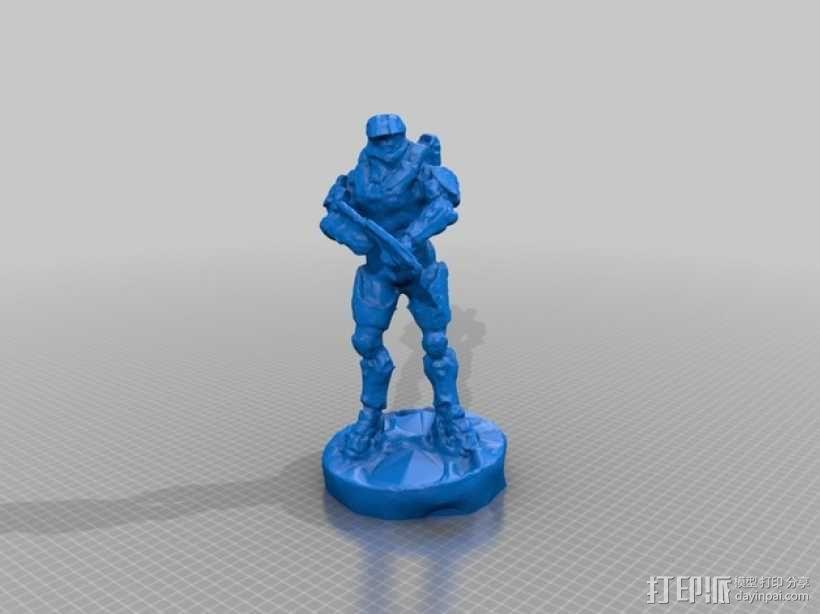 士长官 光晕 3D模型  图1