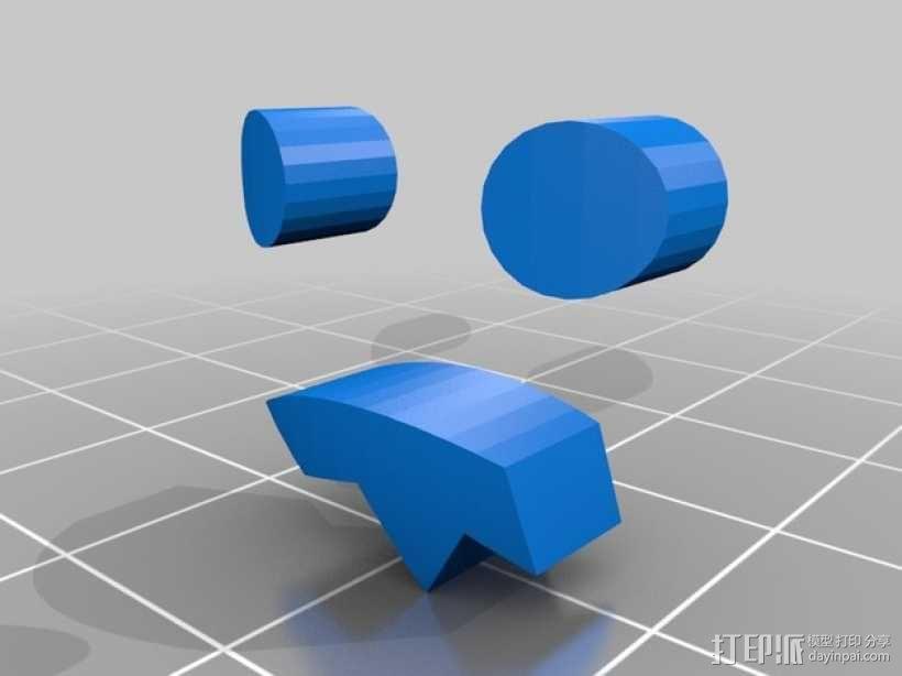 僵尸头  3D模型  图4