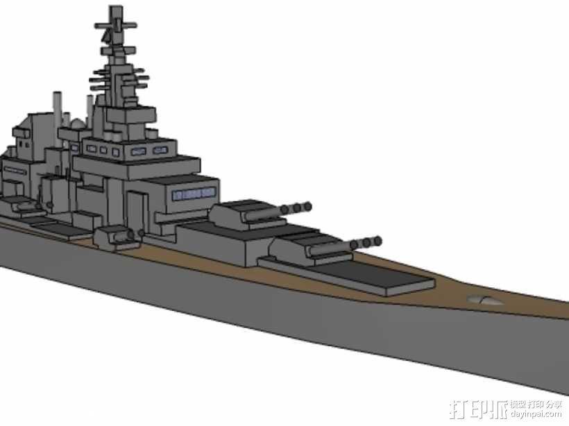 超级战舰 3D模型  图1