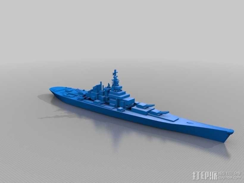 超级战舰 3D模型  图2
