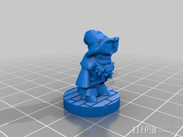Greenbottom先生 3D模型  图2