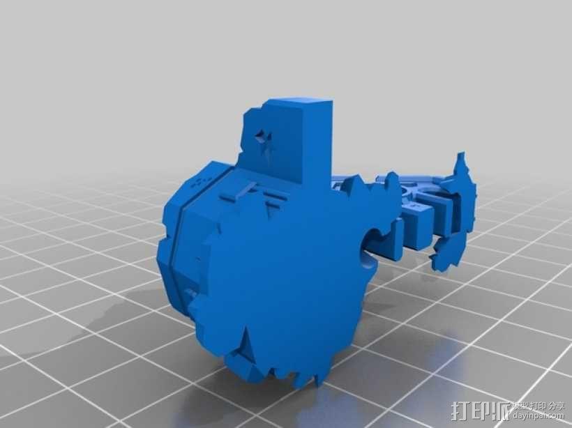飞机模型底座 3D模型  图4