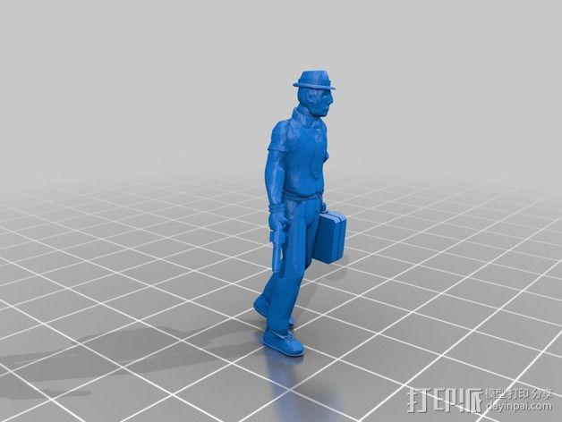 Rooster人物模型 3D模型  图3