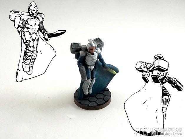 武装人员模型 3D模型  图1