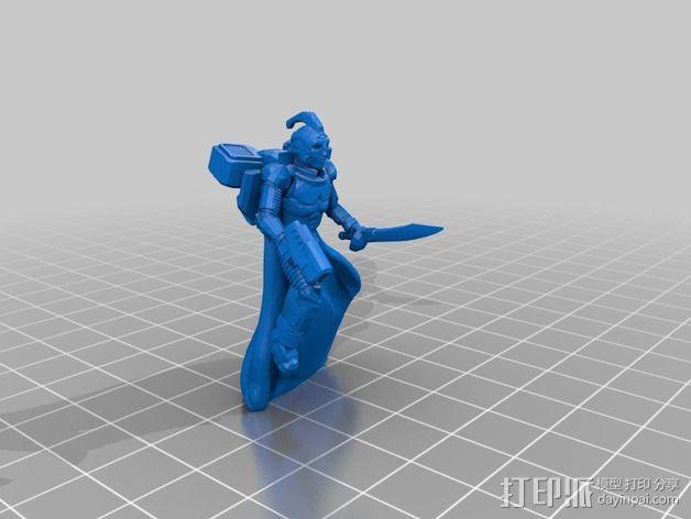 武装人员模型 3D模型  图3