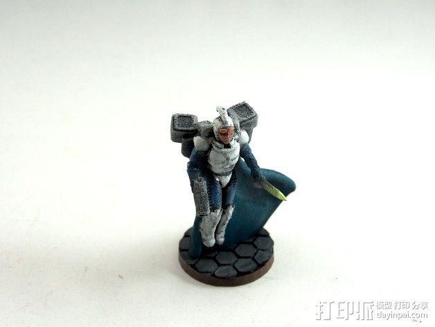武装人员模型 3D模型  图8