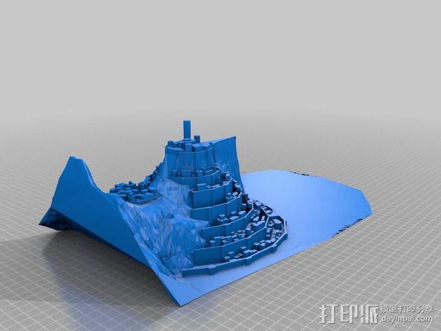 Minas僵尸乐园  3D模型  图1