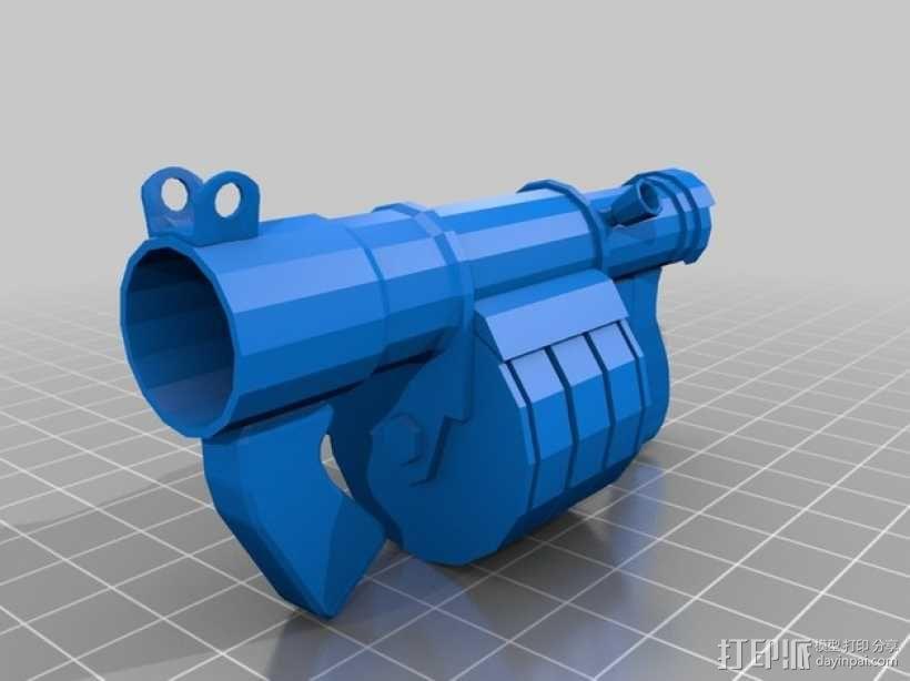 炮弹发射器 3D模型  图1