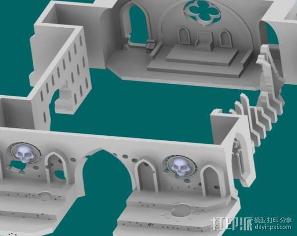 教堂废墟模型 3D模型  图20