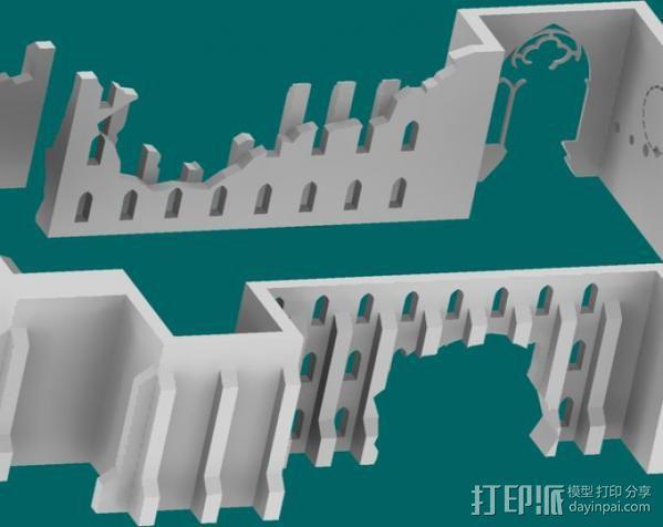 教堂废墟模型 3D模型  图17