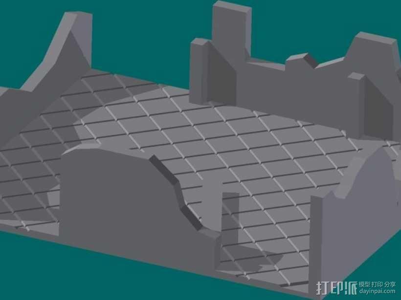 废墟模型 3D模型  图1