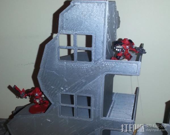 双层楼废墟模型 3D模型  图3