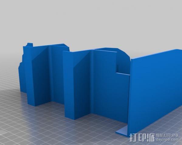 双层楼废墟模型 3D模型  图2