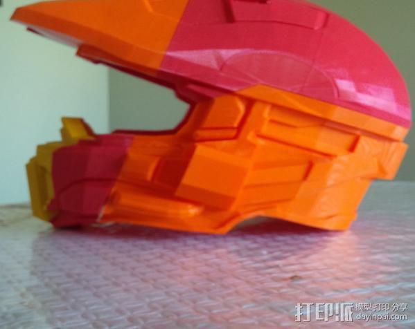 光晕4 头盔 3D模型  图3