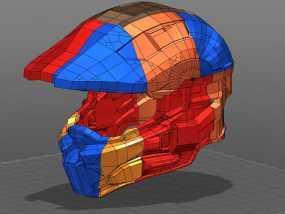光晕4 头盔 3D模型