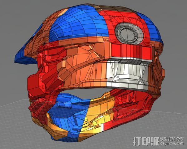光晕4 头盔 3D模型  图11