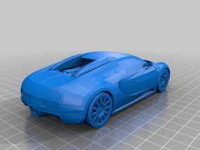 布加迪汽车模型 3D模型